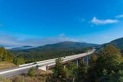Carretera rural en Virginia Fotos de archivo libres de regalías
