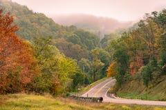 Carretera rural en Virginia Imagenes de archivo