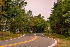 Carretera rural en Virginia Fotografía de archivo libre de regalías