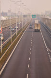 Carretera S17 cerca a Lublin, Polonia Fotos de archivo libres de regalías