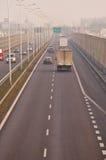 Carretera S17-S12 cerca a Lublin, Polonia Fotos de archivo libres de regalías