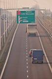 Carretera S17-S12 cerca a Lublin, Polonia Foto de archivo