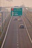Carretera S17-S12 cerca a Lublin, Polonia Imágenes de archivo libres de regalías