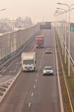Carretera S17-S12 cerca a Lublin, Polonia Fotos de archivo