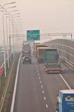 Carretera S17-S12 cerca a Lublin, Polonia Foto de archivo libre de regalías