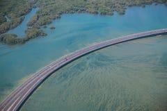 Carretera sobre el mar Fotografía de archivo libre de regalías