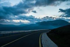 Carretera transalpina foto de archivo libre de regalías