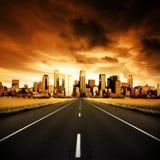 Carretera urbana Fotografía de archivo libre de regalías