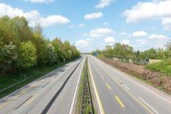 Carretera vacía Fotografía de archivo libre de regalías