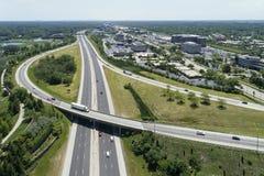 Carretera y antena de la rampa Imagen de archivo libre de regalías