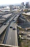 Carretera y ferrocarril en Oslo, Noruega Fotos de archivo