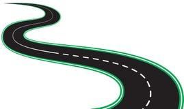 Carreteras y bordes de la carretera negros aislados de asfalto ilustración del vector