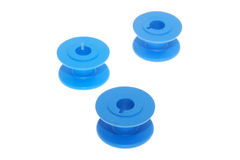 Carretes azules Imagen de archivo libre de regalías