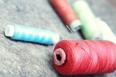 Carretes de costura Imagen de archivo libre de regalías