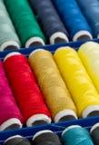 Carretes de costura del hilado Fotografía de archivo libre de regalías