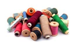 Carretes de la cuerda de rosca Imagen de archivo libre de regalías