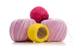 Carretes de la cuerda de rosca Fotografía de archivo libre de regalías