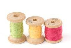 Carretes de la cuerda de rosca del algodón Imagen de archivo