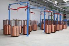 Carretes del alambre de cobre Foto de archivo
