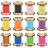 Carretes del color de la cuerda de rosca Fotos de archivo