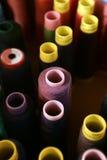 Carretes del hilo de coser Fotografía de archivo libre de regalías