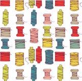 Carretes del modelo de la cuerda de rosca Fotos de archivo