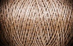 Carretes marrones gruesos de la cuerda de rosca Fotos de archivo libres de regalías