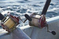 Carretes pesados de la pesca Imágenes de archivo libres de regalías