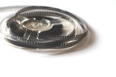 Carretes viejos con la película blanco y negro Foto de archivo libre de regalías