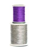 Carretes violetas y de plata imagenes de archivo