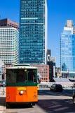 Carretilla de Boston en el puente de la calle del congreso foto de archivo