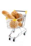 Carretilla de las compras Imagen de archivo libre de regalías