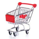 Carretilla de las compras Fotografía de archivo libre de regalías