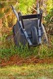 Carretilla de rueda vuelta hacia arriba Foto de archivo libre de regalías