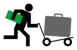 Carretilla del equipaje Fotos de archivo libres de regalías