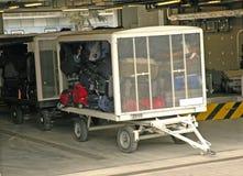Carretilla del equipaje lista para transportar Imagen de archivo libre de regalías