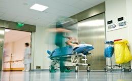 Carretilla del pasillo del hospital Imagen de archivo libre de regalías