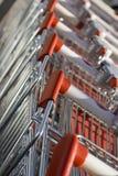 Carretilla del supermercado Imagen de archivo libre de regalías