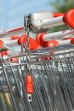 Carretilla del supermercado Fotografía de archivo