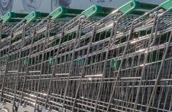 Carretilla del supermercado Imagen de archivo