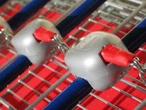 Carretilla del supermercado Fotos de archivo libres de regalías