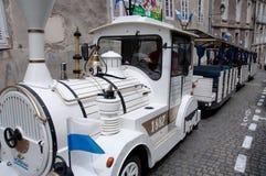 Carretilla del viaje en Vannes, Francia Imágenes de archivo libres de regalías