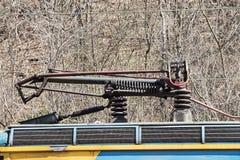 Carretilla eléctrica del motor Foto de archivo