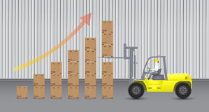 Carretilla elevadora ilustración del vector