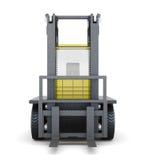 Carretilla elevadora aislada en el fondo blanco representación 3d Fotografía de archivo libre de regalías