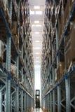 Carretilla elevadora del almacén de la industria Fotografía de archivo libre de regalías