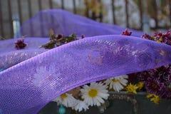 Carretilla floral Foto de archivo libre de regalías
