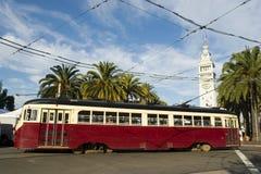 Carretilla o tranvía en San Francisco Foto de archivo