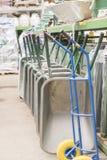 Carretillas del hierro en la tienda de la construcción fotografía de archivo libre de regalías