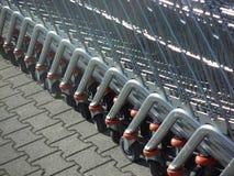 Carretillas del supermercado Imagen de archivo libre de regalías